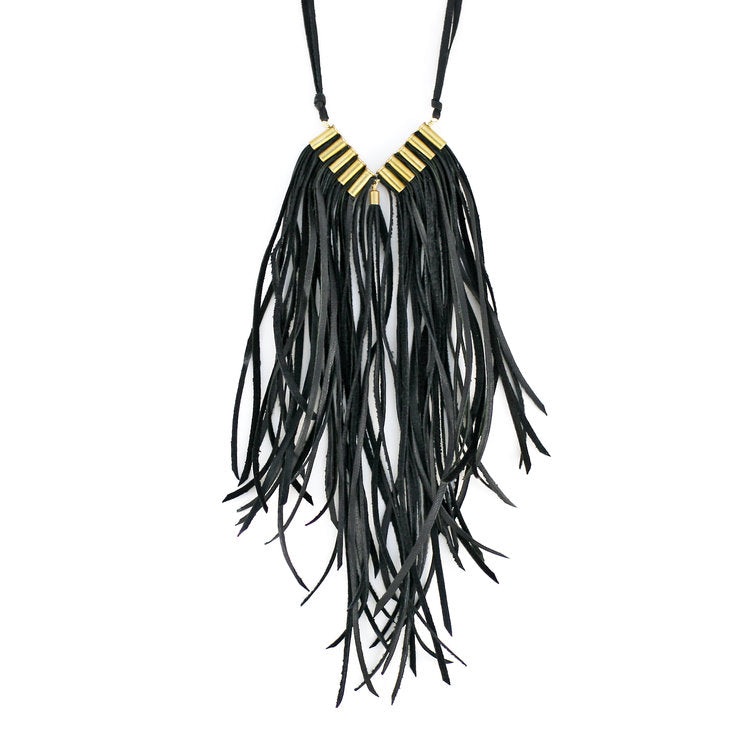 Dark Angel Bullet & Leather Necklace - Funraise