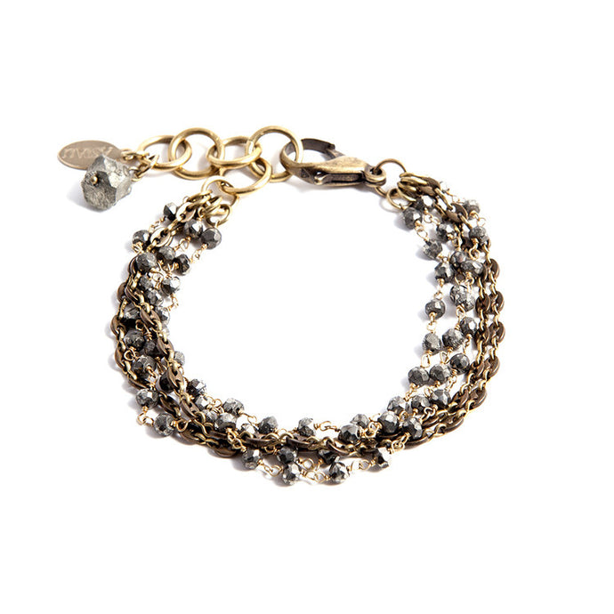 Faceted Pyrite Bracelet - Funraise