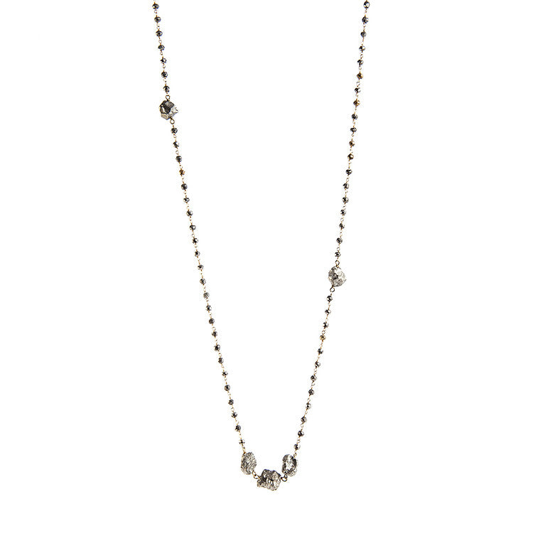 Faceted Pyrite Necklace - Funraise