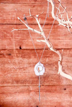 Geode Nature's Glitter Circle Silver Long Necklace - Funraise