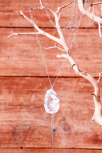 Geode Nature's Glitter Square Silver Long Necklace - Funraise