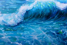 "Seascape Art Canvas Prints ""Blue Waves"" Canvas Wall Art"