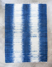 Mayan heirloom pillow, Momo rug, and Momo Blanket - Indigo Package - Funraise