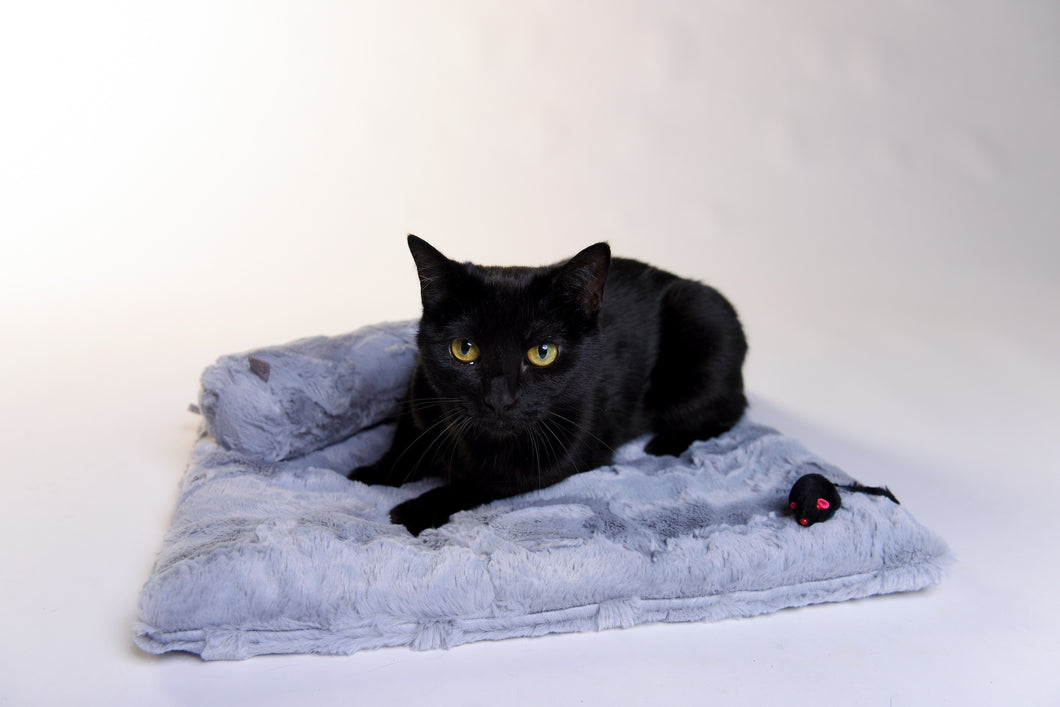 Catnip Comforter and Belly Roll - Silver - Funraise