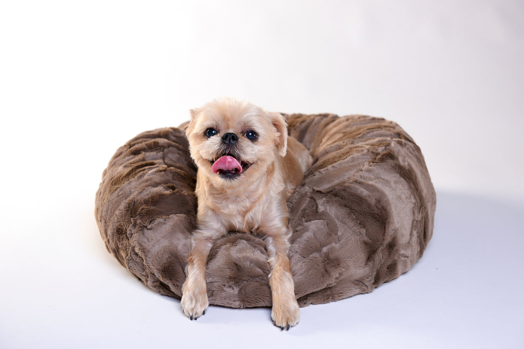 Dog Puff Bed - Brown Truffle - Funraise