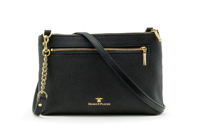 Black Leather Crossbody Bag