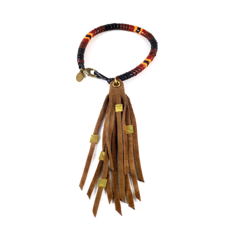 Leather Tassel & Snake Glass Bracelets - Funraise