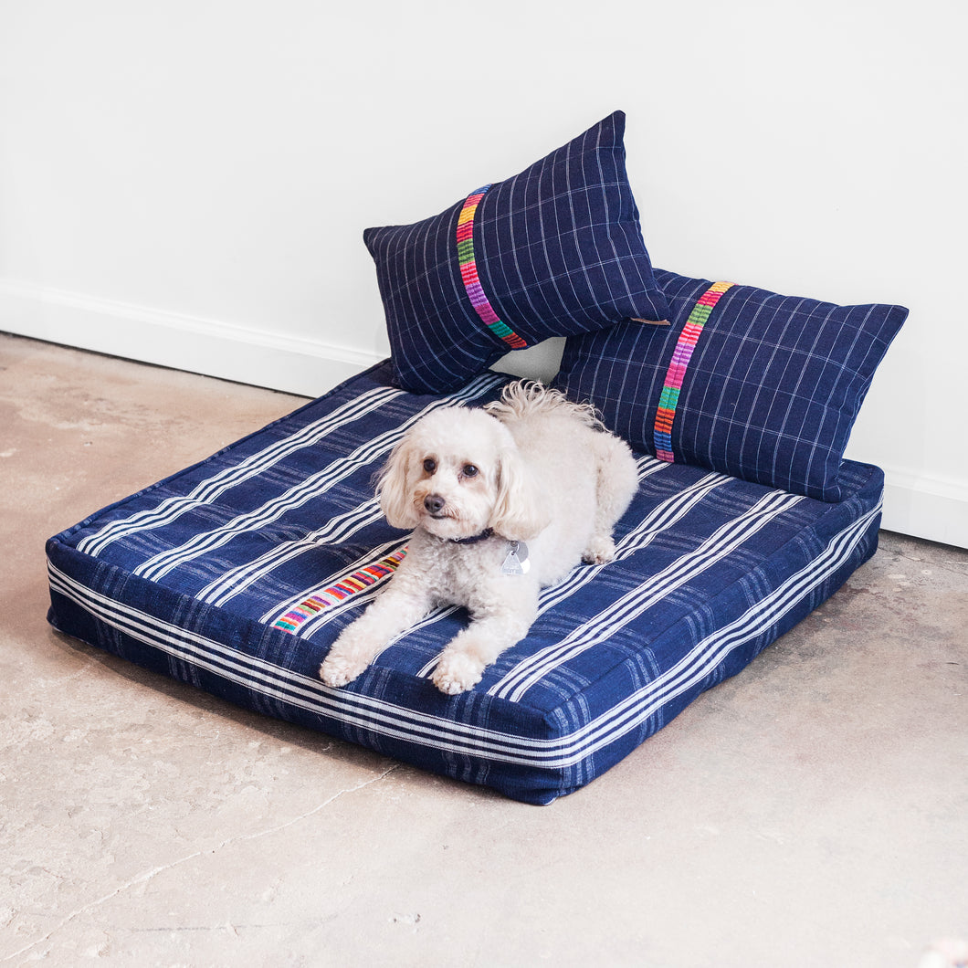 Vintage Indigo Dog Bed Package – Medium