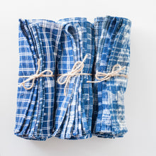 Vintage Indigo Napkins – Three Sets of Four