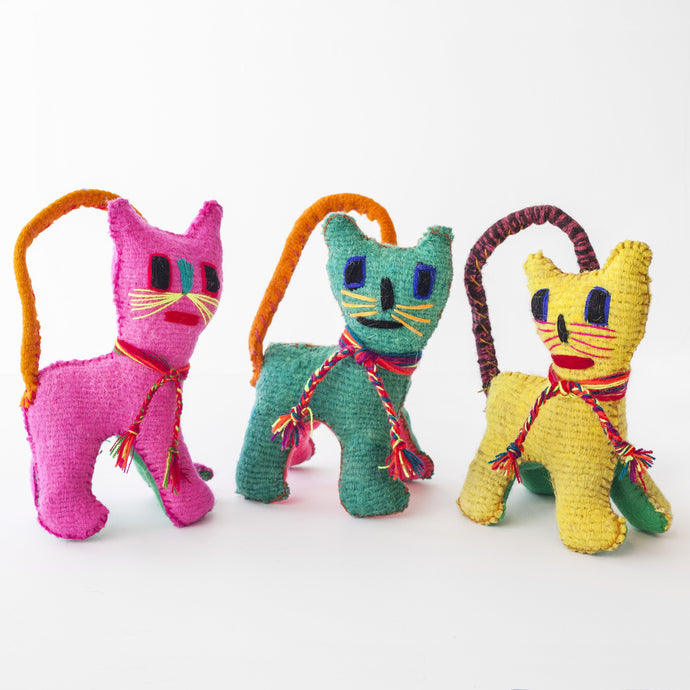 CHIAPAS Wool Felt Animalitos - Trio of Cats