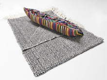 Mayan Heirloom Pillow and Wool Throw - Black and White Package - Funraise