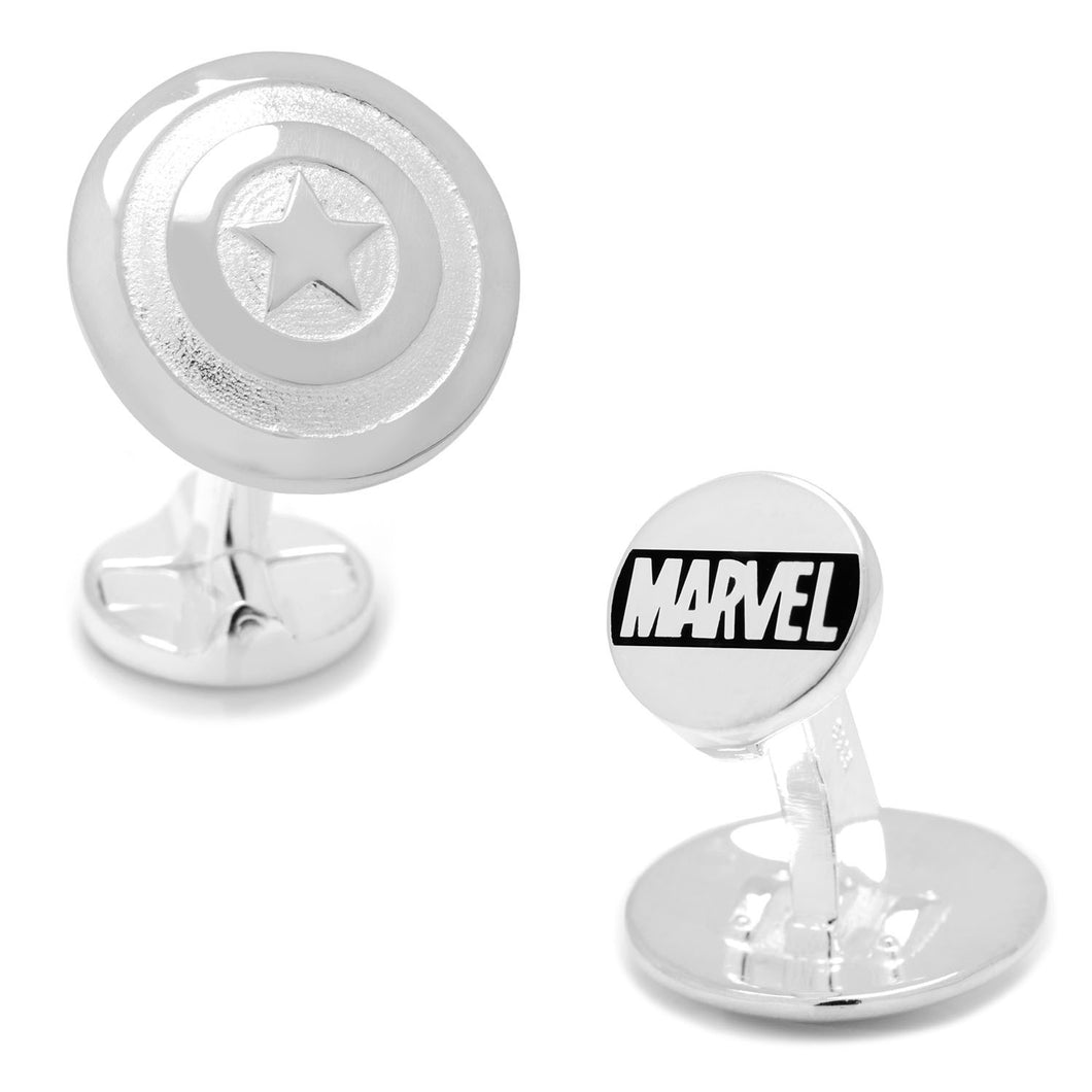 Sterling Silver 3D Captain America Shield Cufflinks - Funraise