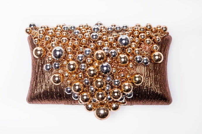 Champagne Bubble Clutch