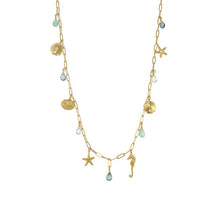LONG SEALIFE CHARM NECKLACE - GOLD - Funraise