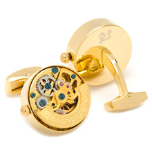 Gold on Gold Kinetic Watch Movement Cufflinks - Funraise