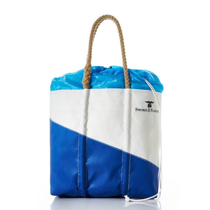 Sword and Plough and Sea Bags - Blue Parachute Expandable Top Tote