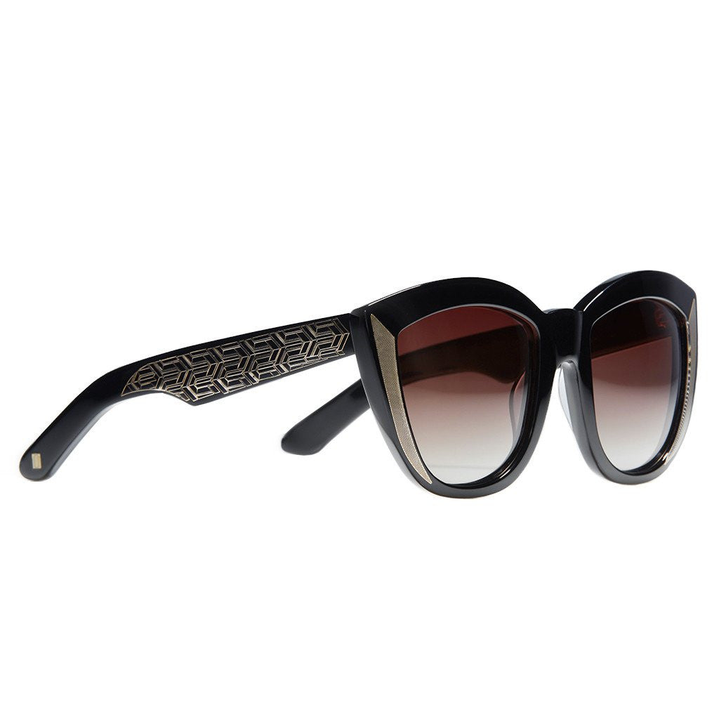 BELIZE IN ONYX WITH DEEP BURGUNDY LENS - Funraise