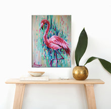 "Flamingo Birds Art Canvas Print ""All In Pink"" Canvas Wall Art"