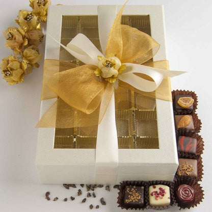 Chocolates - Grand Rectangular Box - Pearl White - Funraise