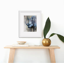 "African Animal Canvas Prints""Blue Ghost"" Canvas Wall Art"