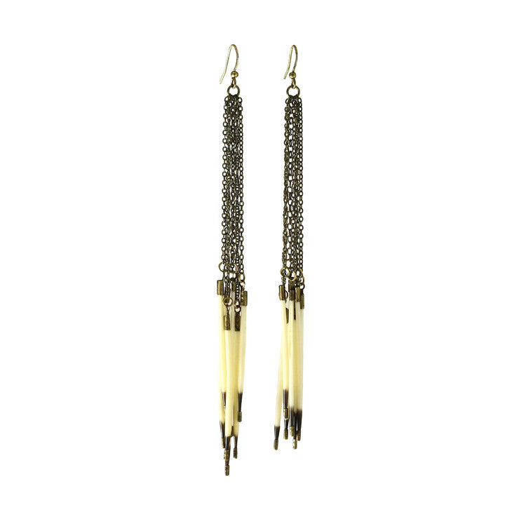 Porcupine Fringe Earrings - Funraise