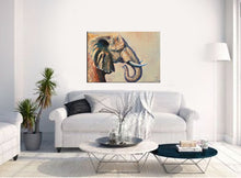 "Wildlife Animal Art Canvas Prints ""Beautiful Giant"" Elephant Canvas Wall Art"