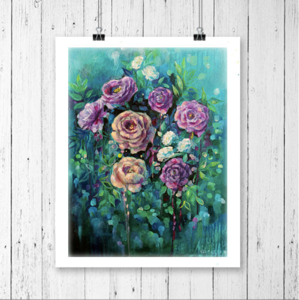 "Floral Art Canvas Print ""Dusk"" Canvas Wall Art"