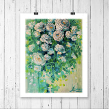 "Flower Art Canvas Prints ""Noon Greenery"" Canvas Wall Art"