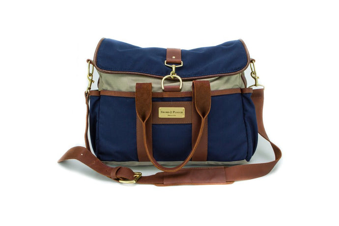 Blue Signature Messenger Bag - Funraise