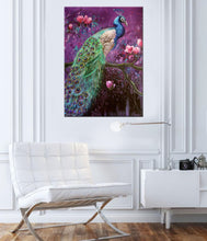 "Peacock Art Canvas Prints ""Peacock On Magnolia Tree"" Bird Canvas Wall Art"