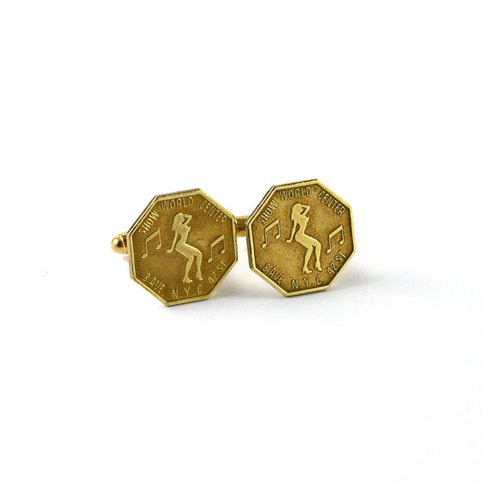 NYC Peep Show Token Cuff Links - Funraise