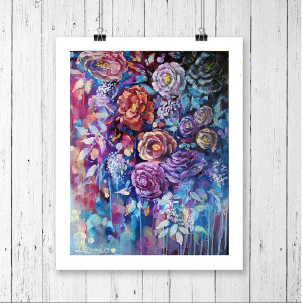 "Floral Art Canvas Print ""Twilight"" Canvas Wall Art"