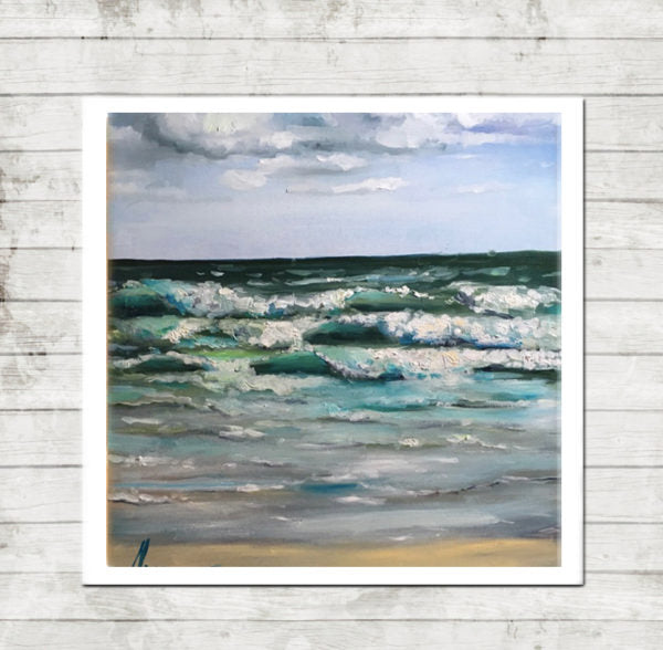 "Seascape Artwork Canvas Prints ""Windy Day"" Canvas Wall Art"
