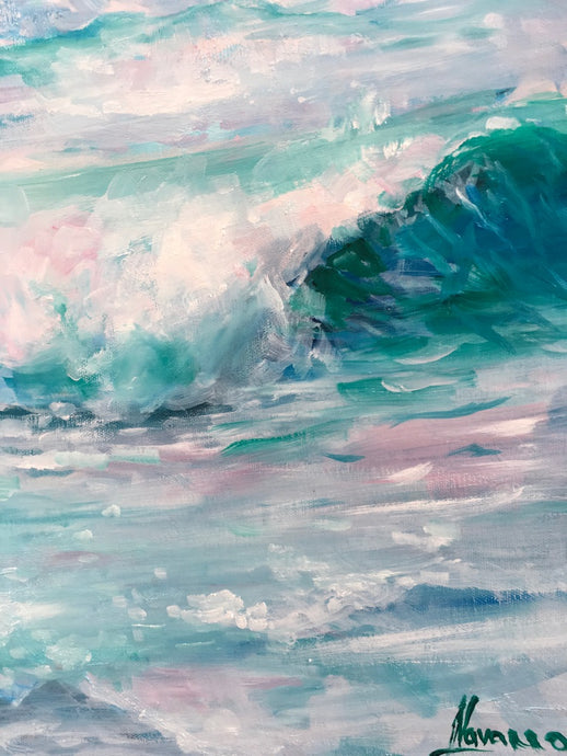 "Ocean Canvas Prints ""Pink Sky"" Wall Art"