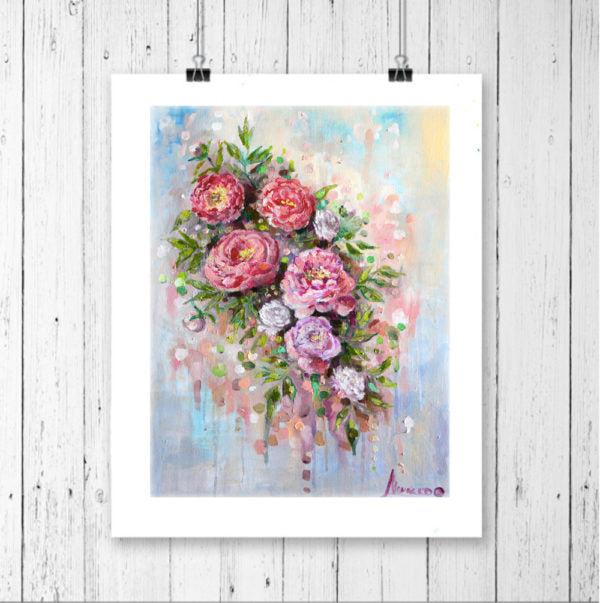 "Floral Canvas Art ""Dawn"" Canvas Wall Art"