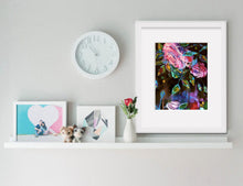 "Floral Art Canvas Print ""Summer night I"" Canvas Wall Art"