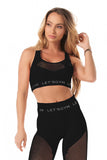 STYLISH SPORTS BRA TOP BLACK