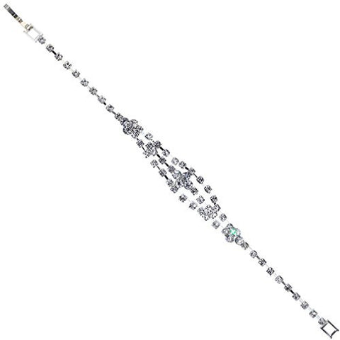 YAZILIND Unique Design Cubic Zirconia Classic Silver Plated Tennis Bracelet for Women Gift