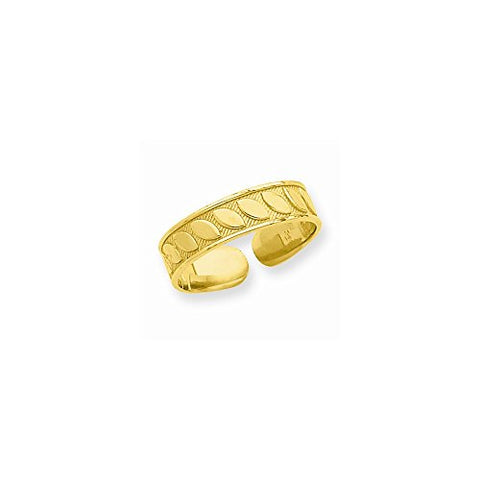 14k Yellow Gold Toe Ring