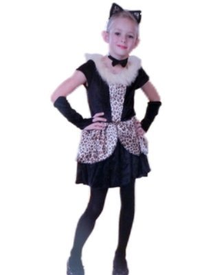 Playful Cat Leopard Dress Girls Costume NWT L 10-12