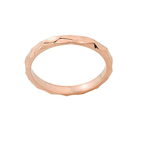 Stackable 10k Rose Gold Sizable Spike Band Toe Ring, Size 5.75