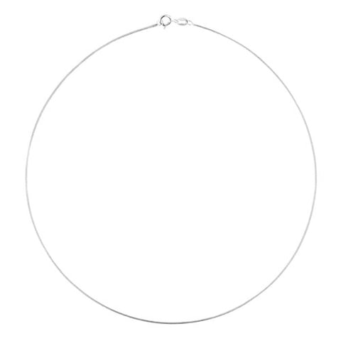 Length 16 Cable Wire 1mm 925 Sterling Silver Collar Necklace Choker