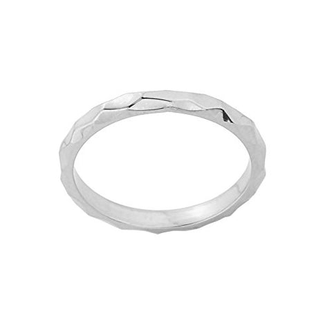 Stackable 10k White Gold Sizable Spike Band Toe Ring, Size 7.75