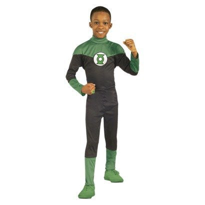 Justice League Green Lantern Hal Jordan Boy's Costume (SMALL)