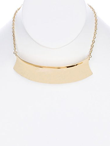 Gold collar choker curved metal necklace Fashion Jewelry FancyCharm