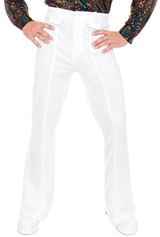 Disco Pants Adult Costume White - 32