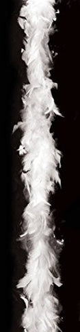 California Costumes Feather Boas Solid 72 Inch Boas, White, One Size Costume Accessory