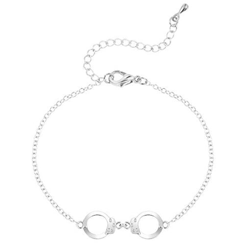 Simple Handcuffs Bracelet Plating Alloy Adjustable Jewelry Tennis Bracelet Silver