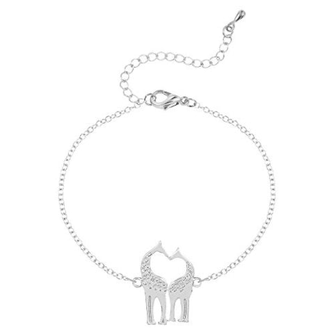 Charm Tiny Giraffe Bracelet Adjustable Animal Jewelry Tennis Bracelet