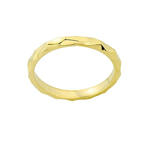 Stackable 10k Yellow Gold Sizable Spike Band Toe Ring, Size 6.75